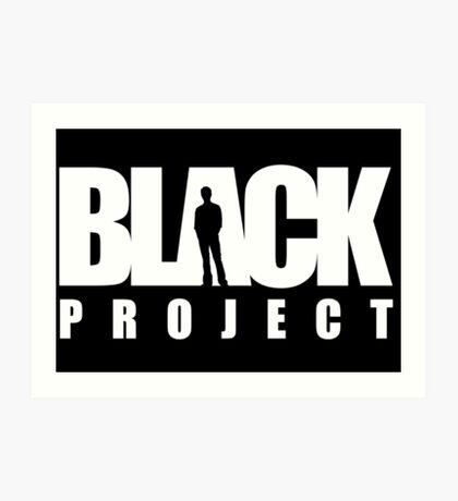BLACK PROJECT WHITE LOGO ON BLACK Art Print