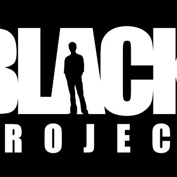 BLACK PROJECT WHITE LOGO ON BLACK by CrazyPencilComx