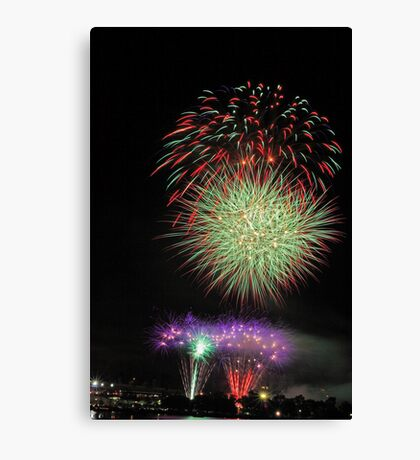 Perth New Years Eve Fireworks  Canvas Print