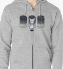 Mystic Miku | Crystal Ball & Zodiac | Light Purple Zipped Hoodie