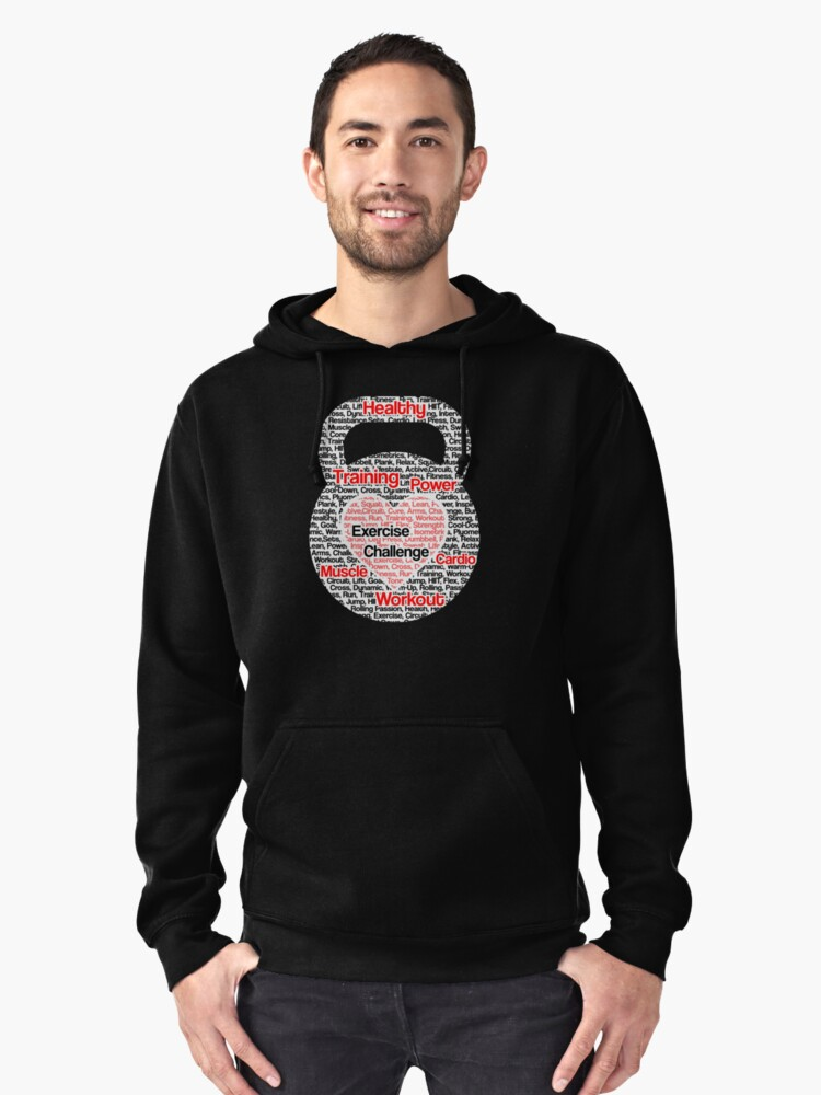 Kettlebells Training Graphic Pullover Hoodie Front
