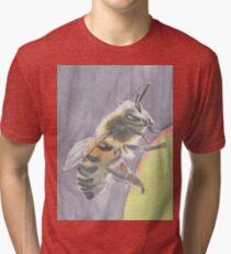 Backlit Bee On Succulent Tri-blend T-Shirt
