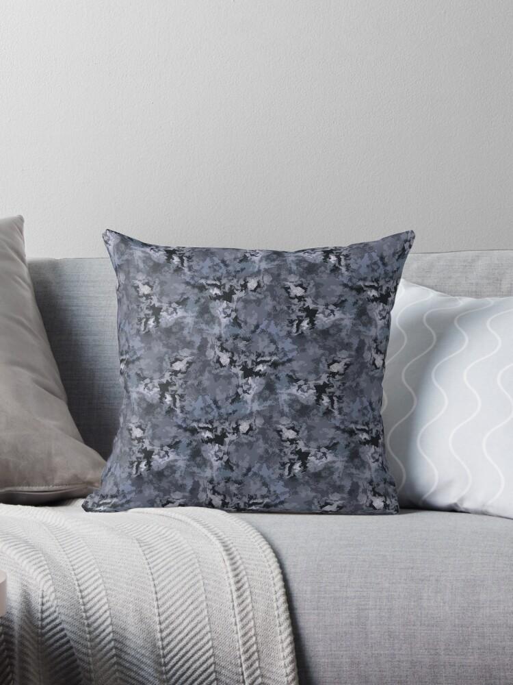 Abstract grey blue camo  by fuzzyfox