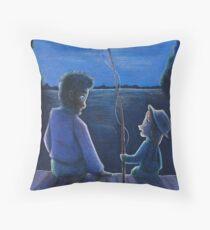 Huck Finn and Jim Throw Pillow