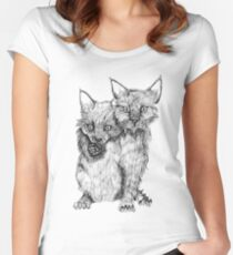 Siamese kittens  Women's Fitted Scoop T-Shirt