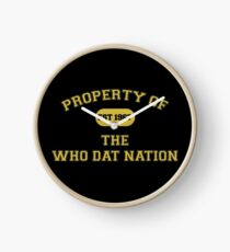 Who Dat Nation  Clock