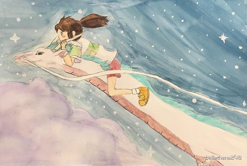 Chihiro and Haku  by bellathena248