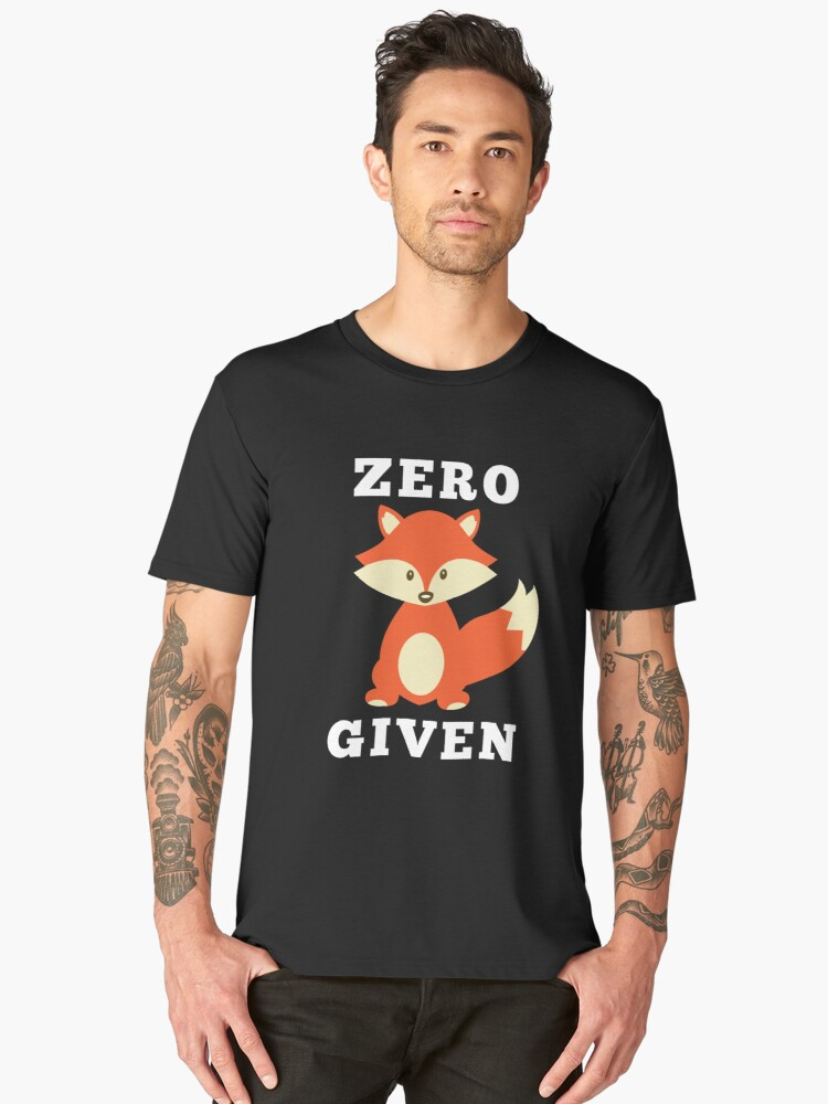 Zero FOX Given Men's Premium T-Shirt Front