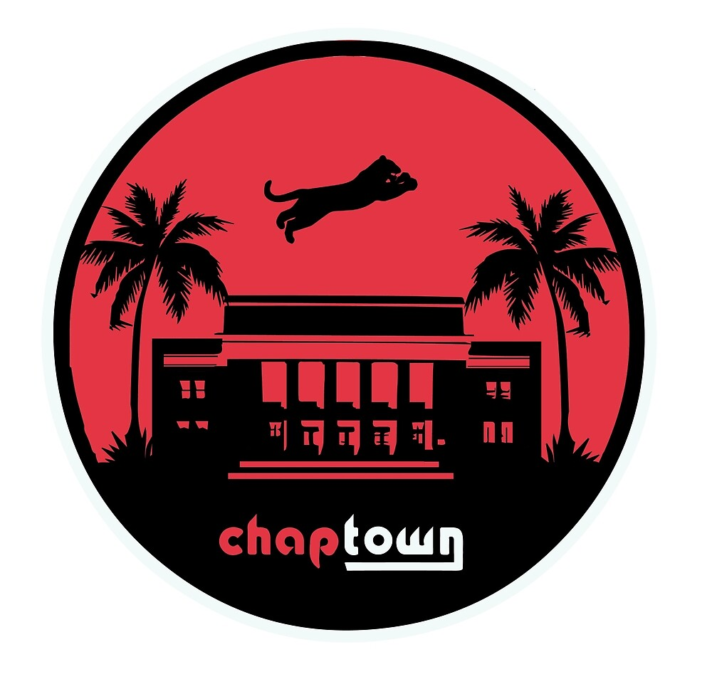 chaptown front lawn sticker/clock by chaptown