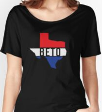 Beto Texas Red White Blue Patriotic T-Shirt For US Senate Senator Democrat Turn Texas Blue Democratic Party Women's Relaxed Fit T-Shirt
