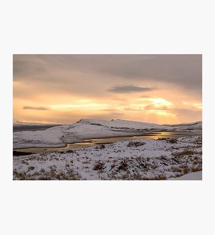 Snow Covered Trotternish Ridge Toward Sundown Photographic Print