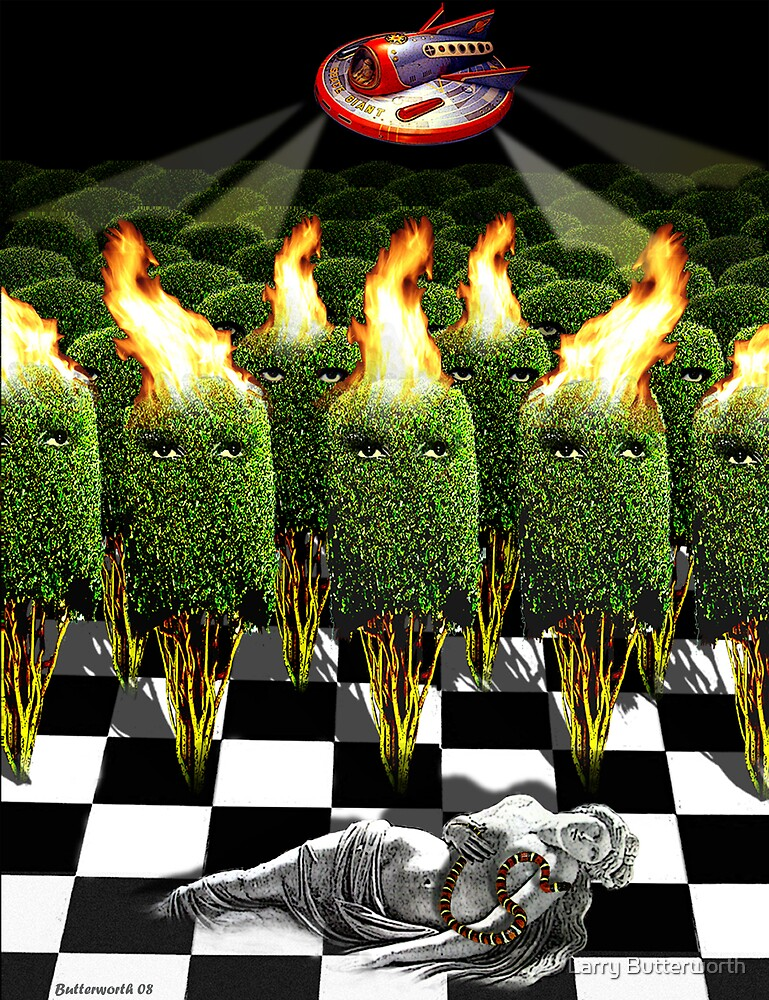 THE INVASION OF EARTH BY THE ALIEN BUSHES by Larry Butterworth