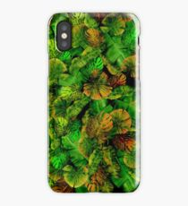 Mashup mix tropical leafs iPhone Case