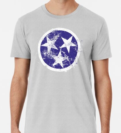 Distressed State Flag Of Tennessee Premium T-Shirt