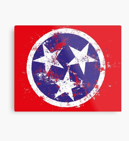 Distressed State Flag Of Tennessee Metal Print