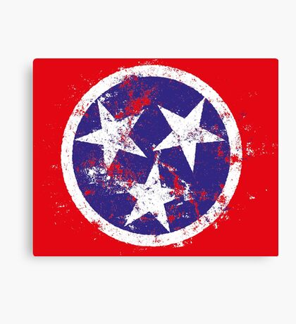 Distressed State Flag Of Tennessee Canvas Print