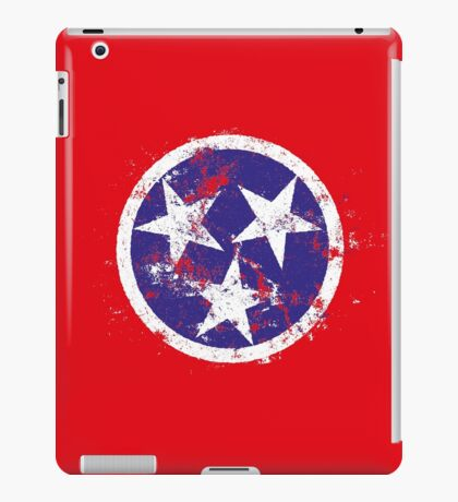 Distressed State Flag Of Tennessee iPad Case/Skin