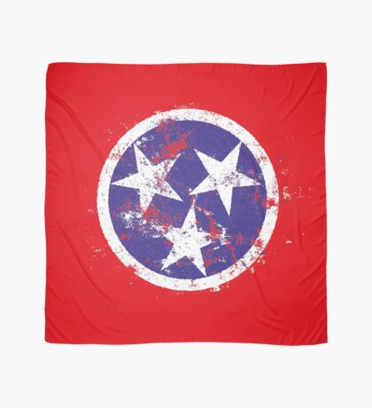 Distressed State Flag Of Tennessee Scarf