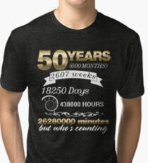 Wedding Anniversary Married 50 Year Couple 50th T-shirt Tri-blend T-Shirt