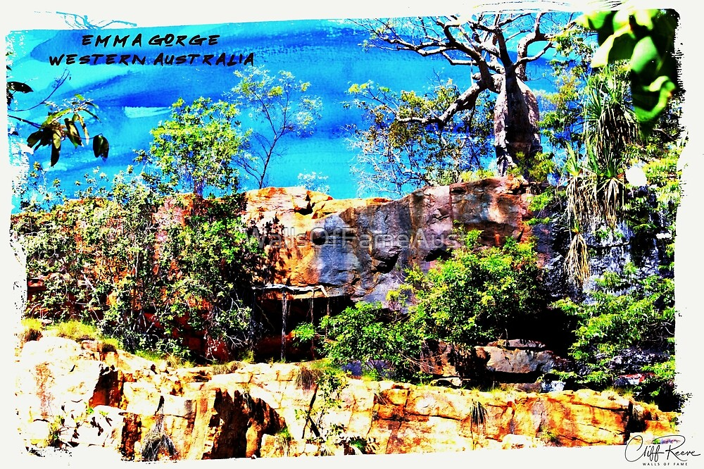 Emma Gorge Digital Painting. Kimberley Western Australia by WallsOfFameAust