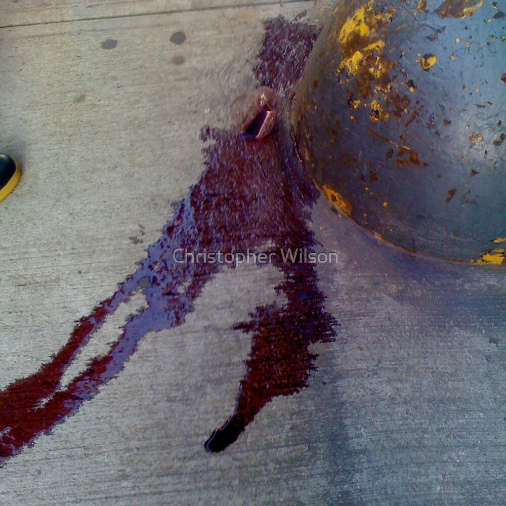 Spilt wine by Christopher Wilson