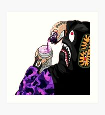 Bape Hypebeast sippin on Lean Art Print