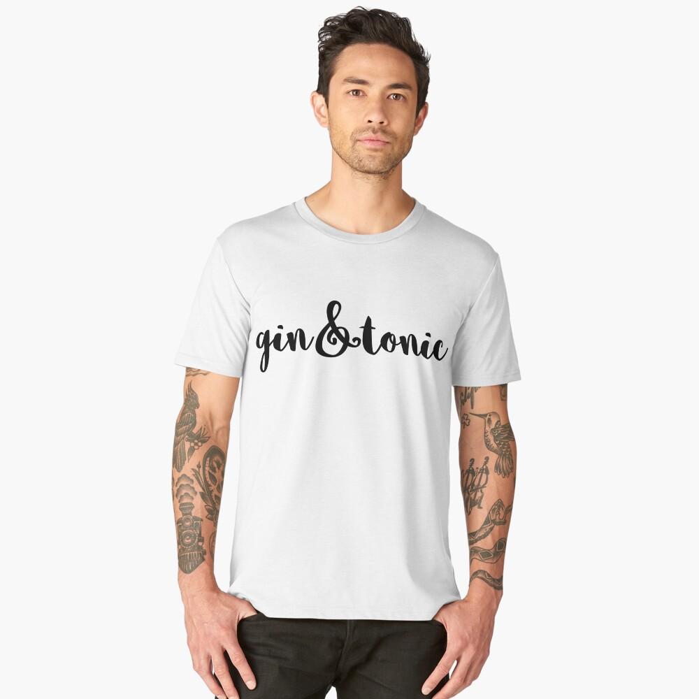 Gin and Tonic Men's Premium T-Shirt Front