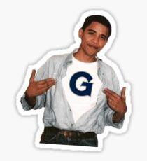 Barack Obama Georgetown University Sticker