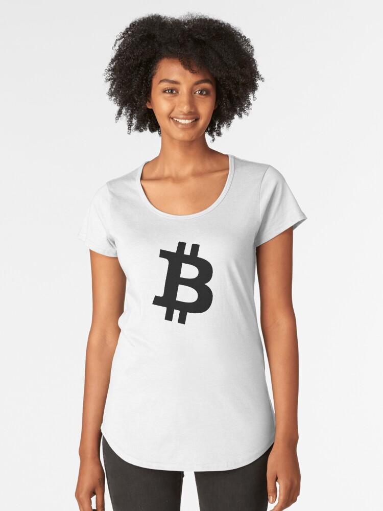Black and white bit Women's Premium T-Shirt Front