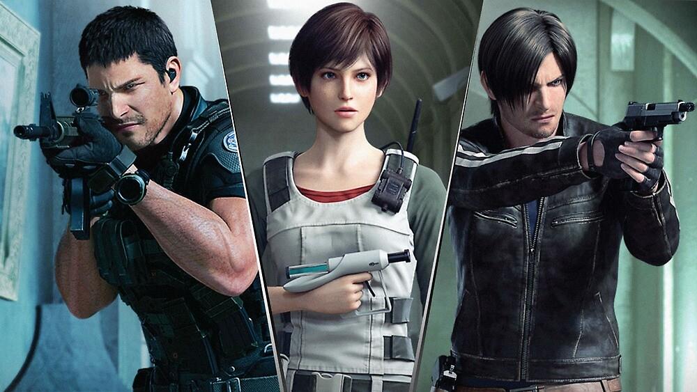 Resident Evil Vendetta Chris, Rebecca and Leon by ResidentBreak23