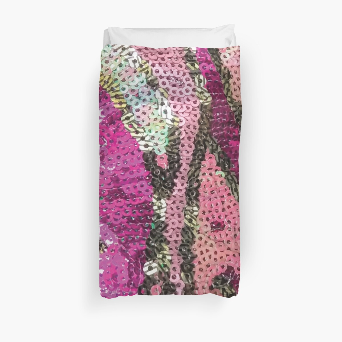 Photo of Pink Sequined Fabric by CrazyCraftLady