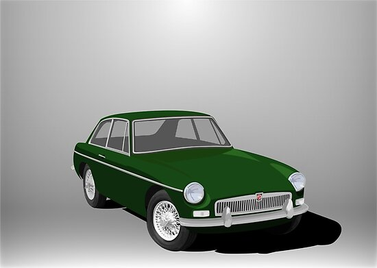 MGB GT Graphic Poster 2 by NickShirrell