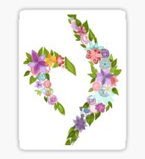 Eating disorder recovery symbol Sticker