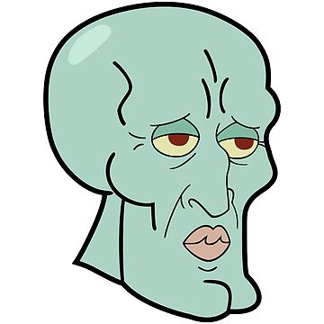 Handsome squidward meme reaction face by KingZel