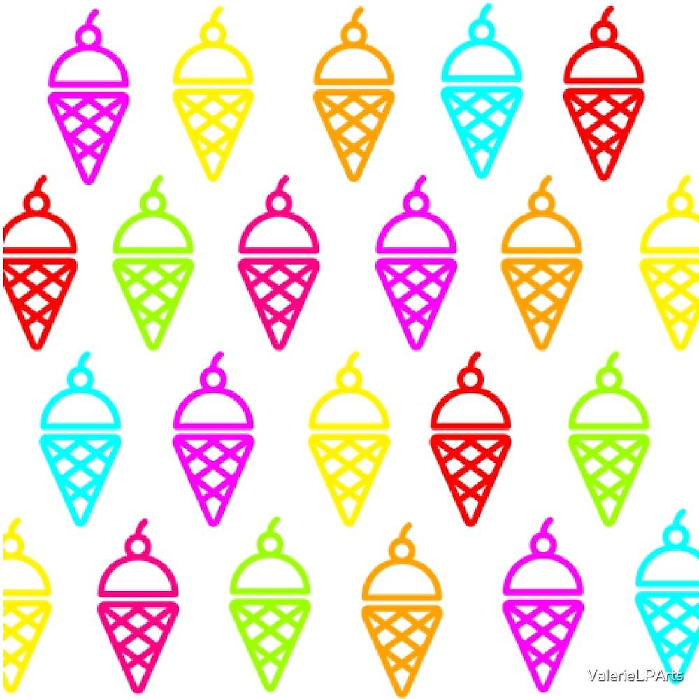 Ice cream pattern  by ValerieLPArts