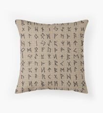 Futhark Rune Throw Pillow