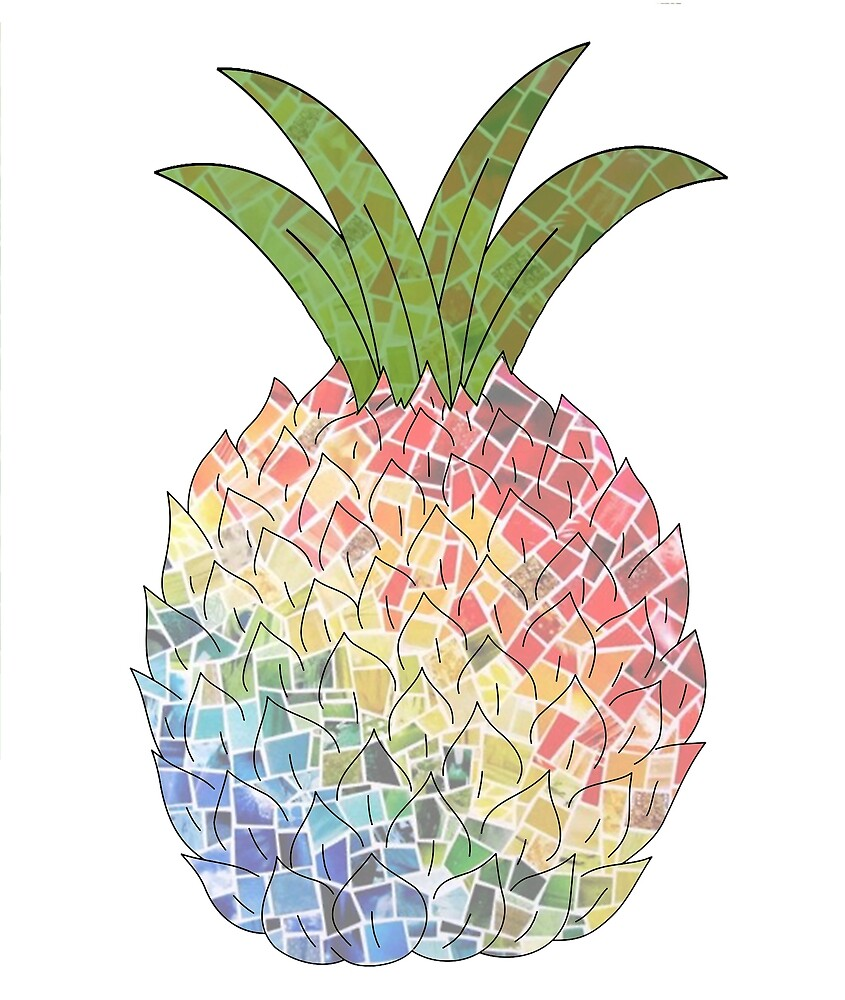 Colorful Pineapple Sticker by isaromeu