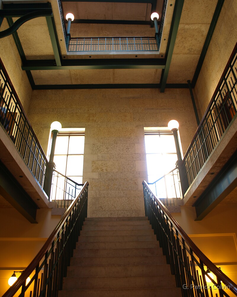 State Capitol Building - North Stairwell by Gregory Colvin