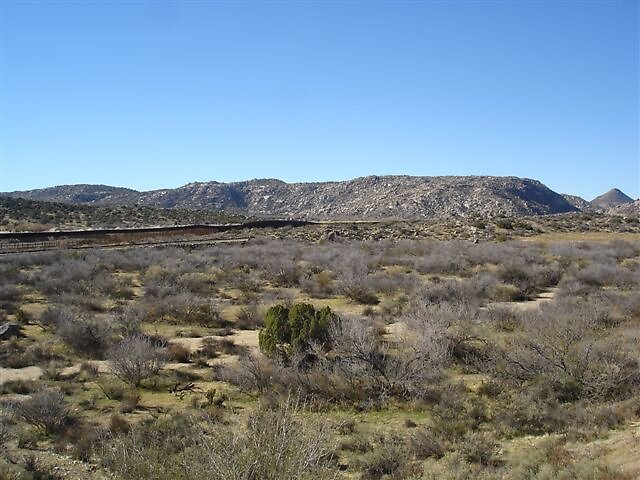 December 31, 2008 - The road I live off of and the Mexican/American Border Fence by UrantiaJim