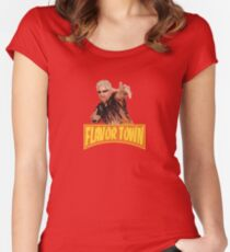 FLAVOR TOWN USA - GUY FlERl Women's Fitted Scoop T-Shirt
