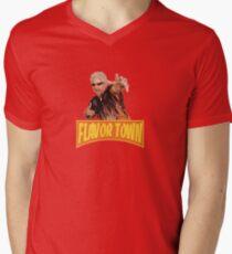FLAVOR TOWN USA - GUY FlERl Men's V-Neck T-Shirt