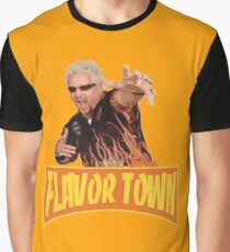 FLAVOR TOWN USA - GUY FlERl Graphic T-Shirt