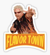 FLAVOR TOWN USA - GUY FlERl Sticker