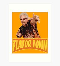 FLAVOR TOWN USA - GUY FlERl Art Print