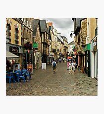 Cobblestone Street in Redon, Brittany Photographic Print