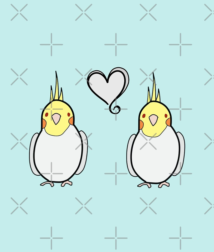 Lutino Tiels in Love by VivianRosalee