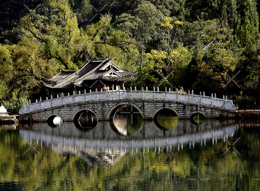 Bridge Reflections_China by Sheryle  Griffiths