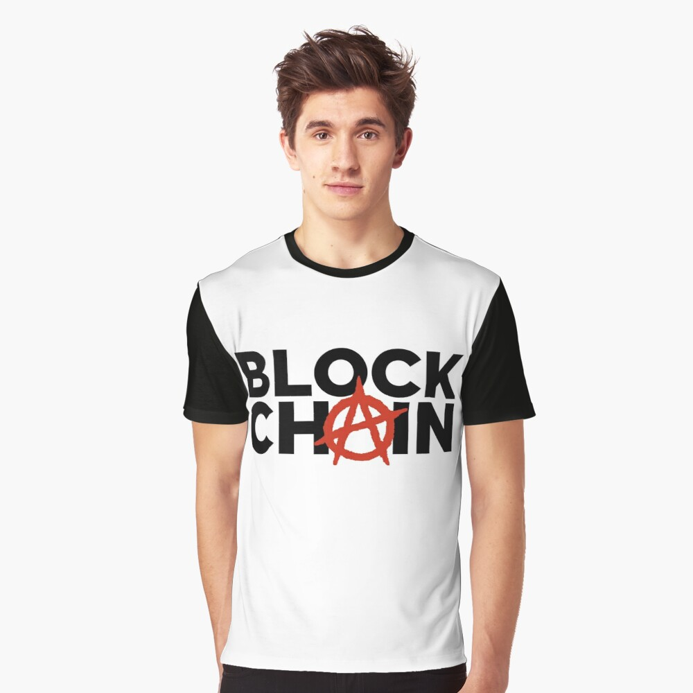 Blockchain Anarchy Graphic T-Shirt Front