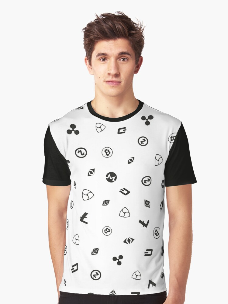 Crypto logos Graphic T-Shirt Front