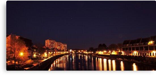 River Ayr by Night by PhotosMundito